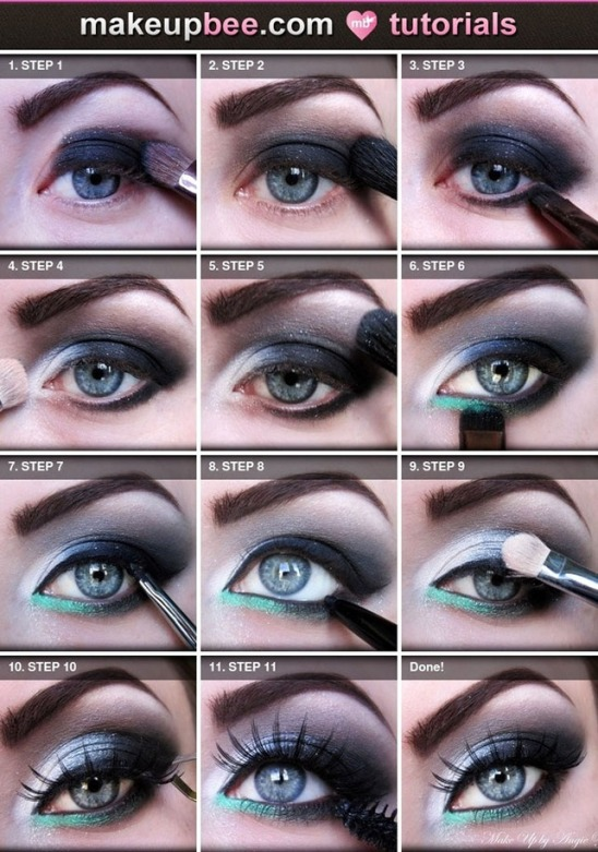 Achei no: http://www.grandmakeup.com/disco-eyeshadow-makeup-tutorial/